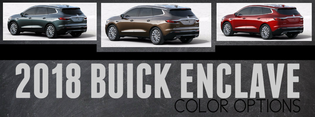 2018 Buick Enclave Color Options