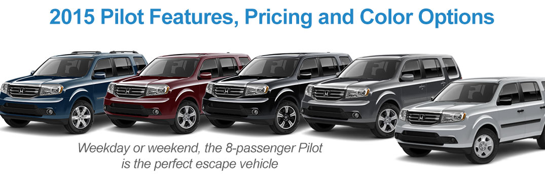2015 Honda Pilot Features Price And Color Options