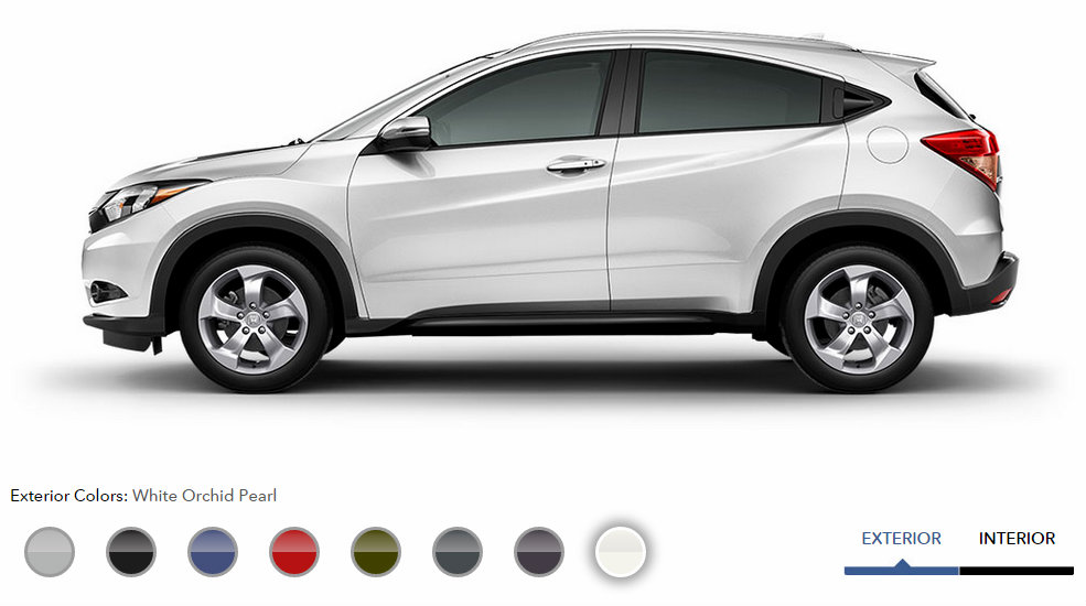 2016 Honda Hr V Exterior Color Options White Orchard Pearl Patty Peck Honda