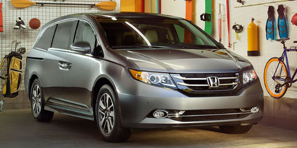 2016 honda Odyssey Exterior View of Front End in Silver