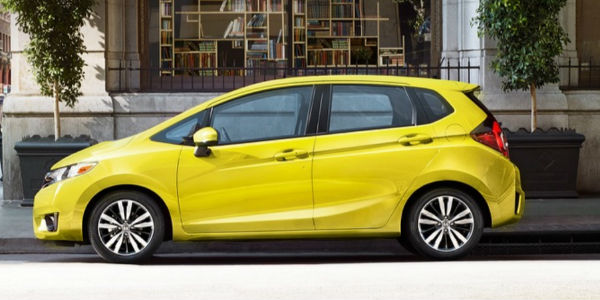 2017 Honda Fit in Yellow Exterior Side View