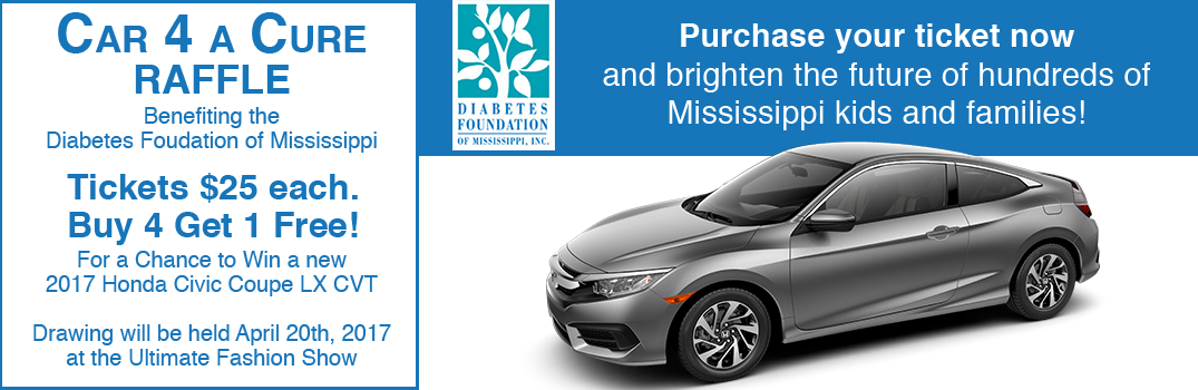 2017 Car For a Cure Raffle Benefiting Diabetes Foundation of Mississippi