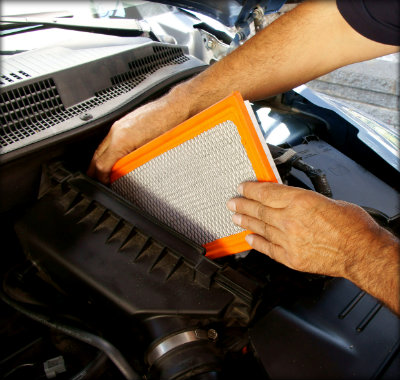 cleaning car air filters