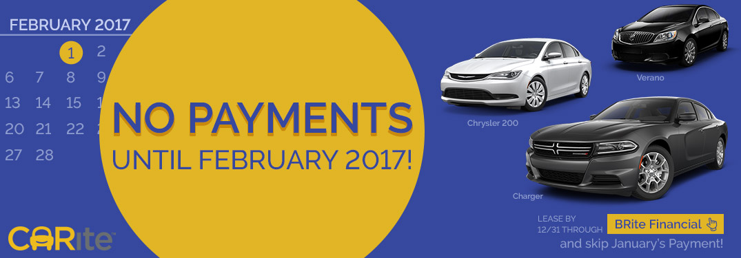 CARite No Payments Until February