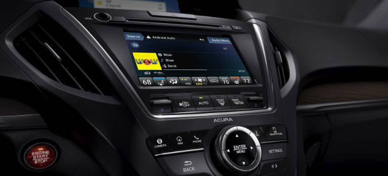 2018 Acura MDX touchscreen display