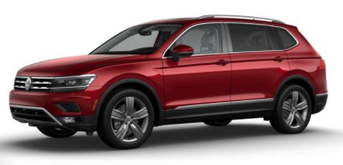 2018 VW Tiguan Cardinal Red Metallic