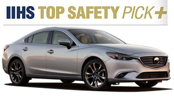 2016 Mazda6 Crash Test: The 2016 Mazda6 Sedan Once Again Earns the IIHS Top Safety Pick+ Award!