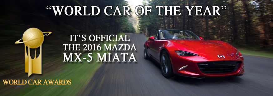 World Car Mazda >> 2016 Mazda Mx 5 Miata Named World Car Of The Year Maple Shade Mazda