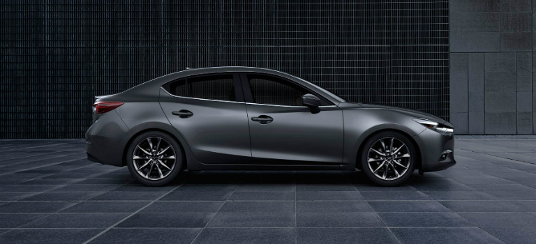 2017 Mazda3 Grey side view