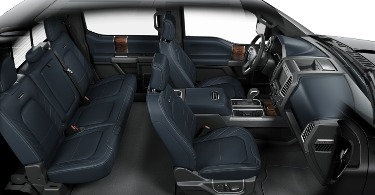 2018 Ford F 150 Limited With Navy Pier Blue Leather Interior