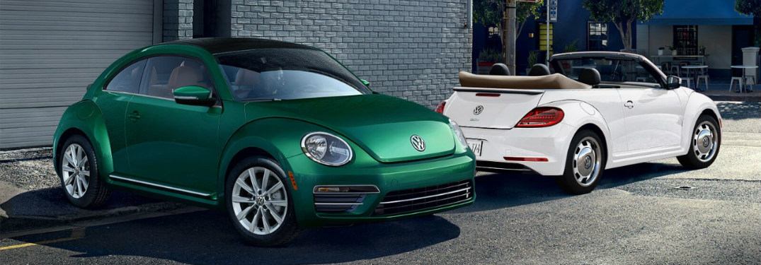 2018 vw beetle green white