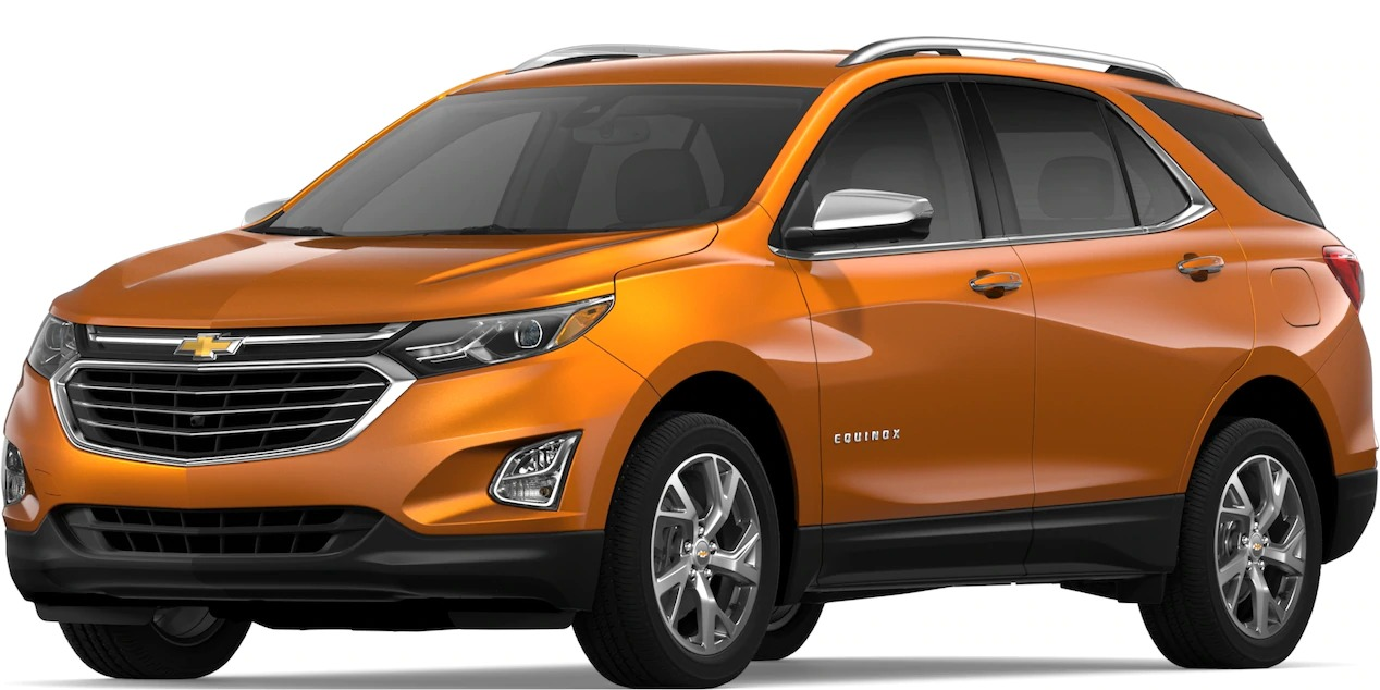 2019 Chevy Equinox Orange Burst Metallic side view