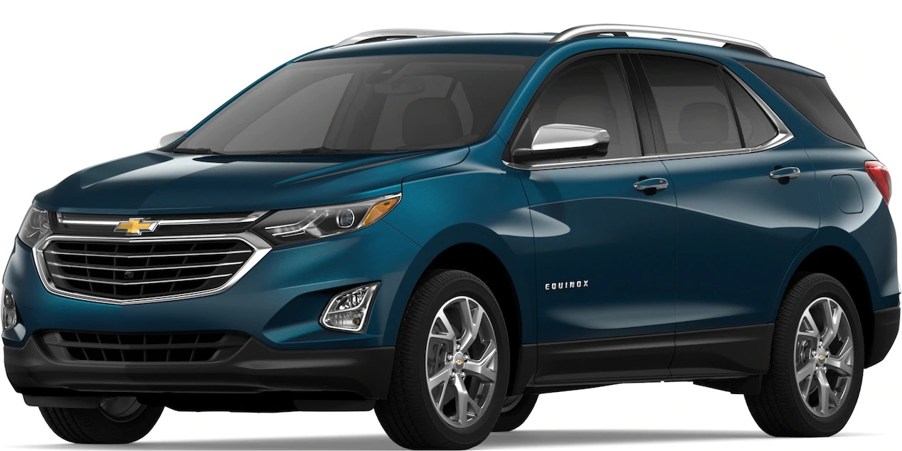 2019 Chevy Equinox Pacific Blue Metallic side view