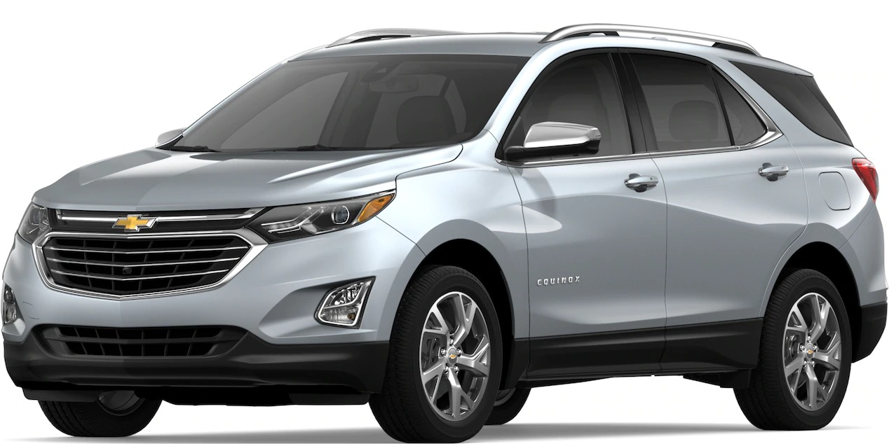 2019 Chevy Equinox Silver Ice Metallic side view
