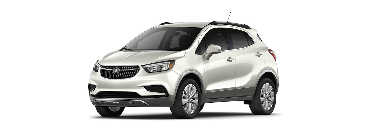 2019 Buick Encore White Frost side view