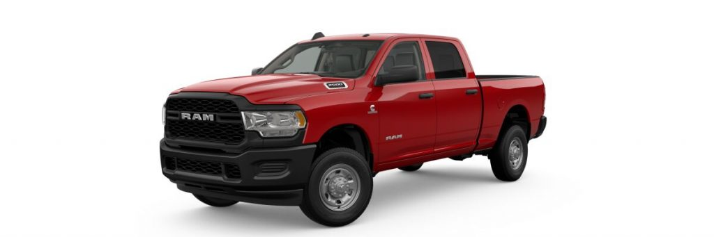 2019 Ram 2500 in flame red