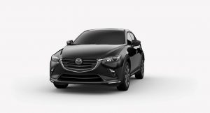 Exterior view of a Jet Black 2019 Mazda CX-3