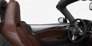 2019 Mazda MX-5 Miata Auburn Nappa Leather Interior Color Option
