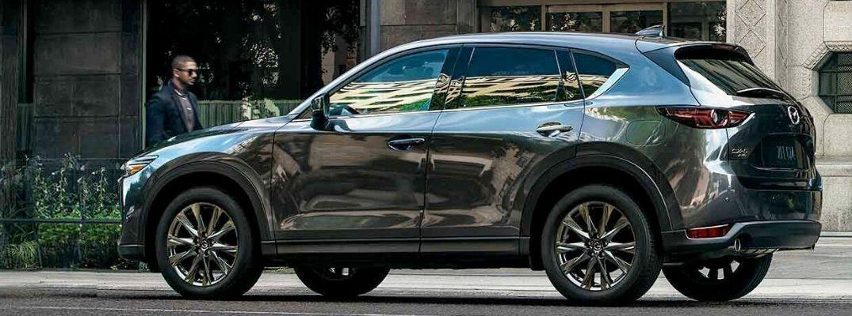 Exterior view of a gray 2019 Mazda CX-5