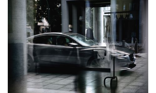 2020 Mazda6 exterior shot through window with reflections