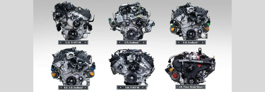 All six engine options of the 2018 Ford F-150