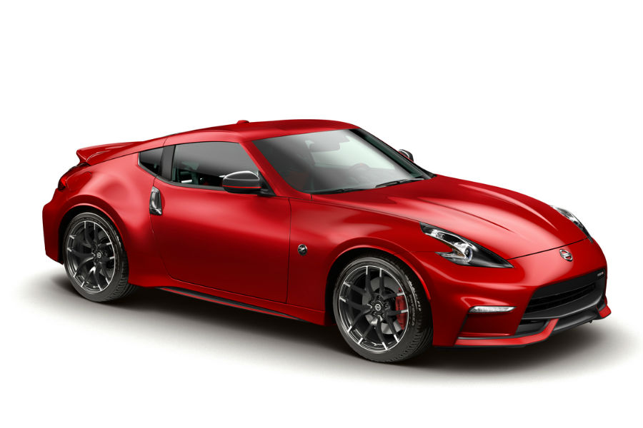 2018 Nissan 370z Nismo In Red Against White Bg