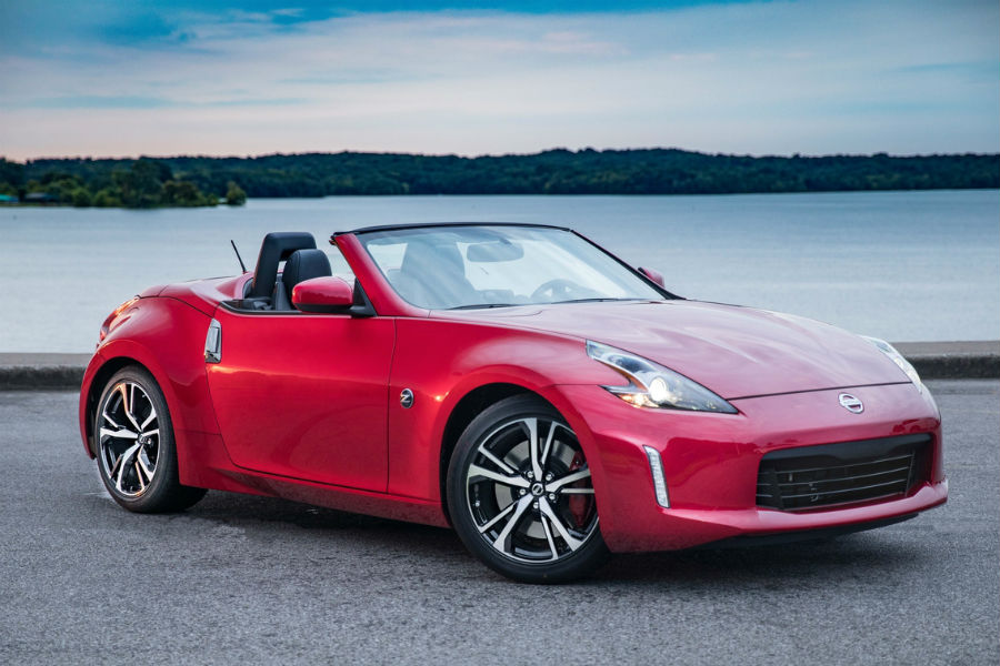 2018 Nissan 370z Roadster In Red On Coast