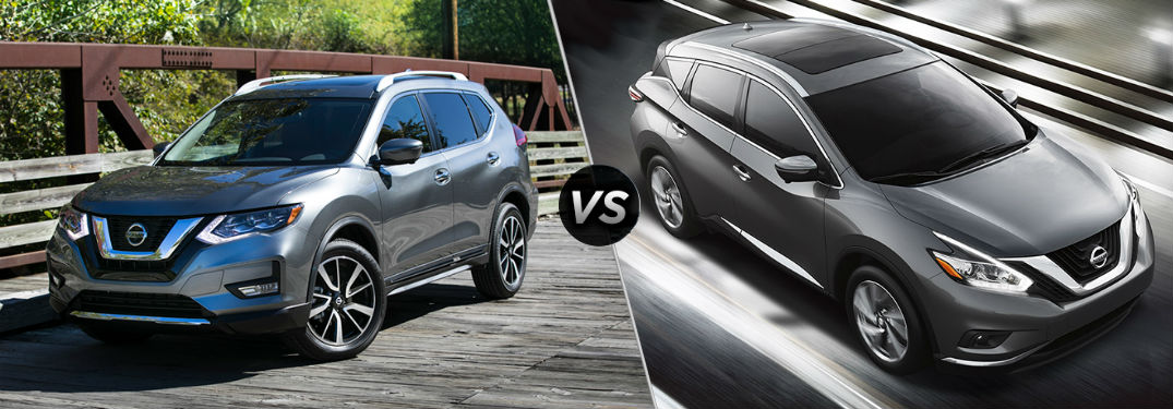 ... Split Screen Comparison Between The 2018 Nissan Rogue And 2018 Nissan  Murano