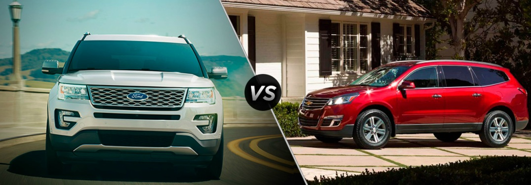 Ford Explorer and Chevy Traverse side by side