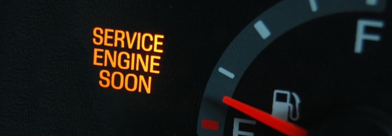 check engine light on dashboard