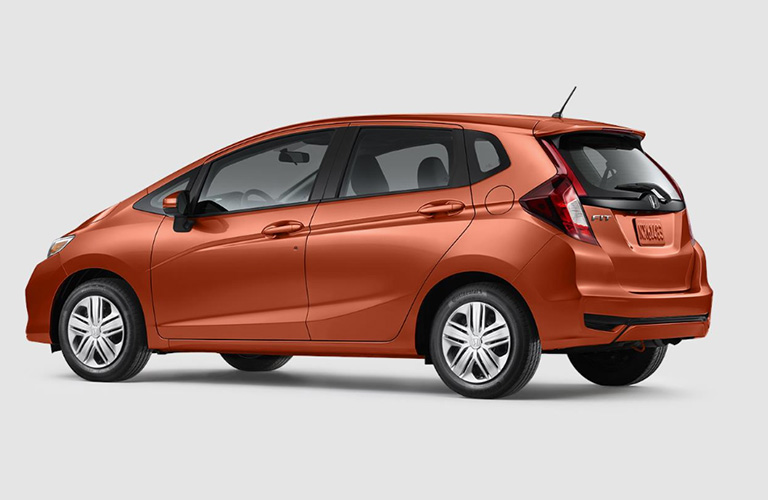 2018 Honda Fit exterior in orange