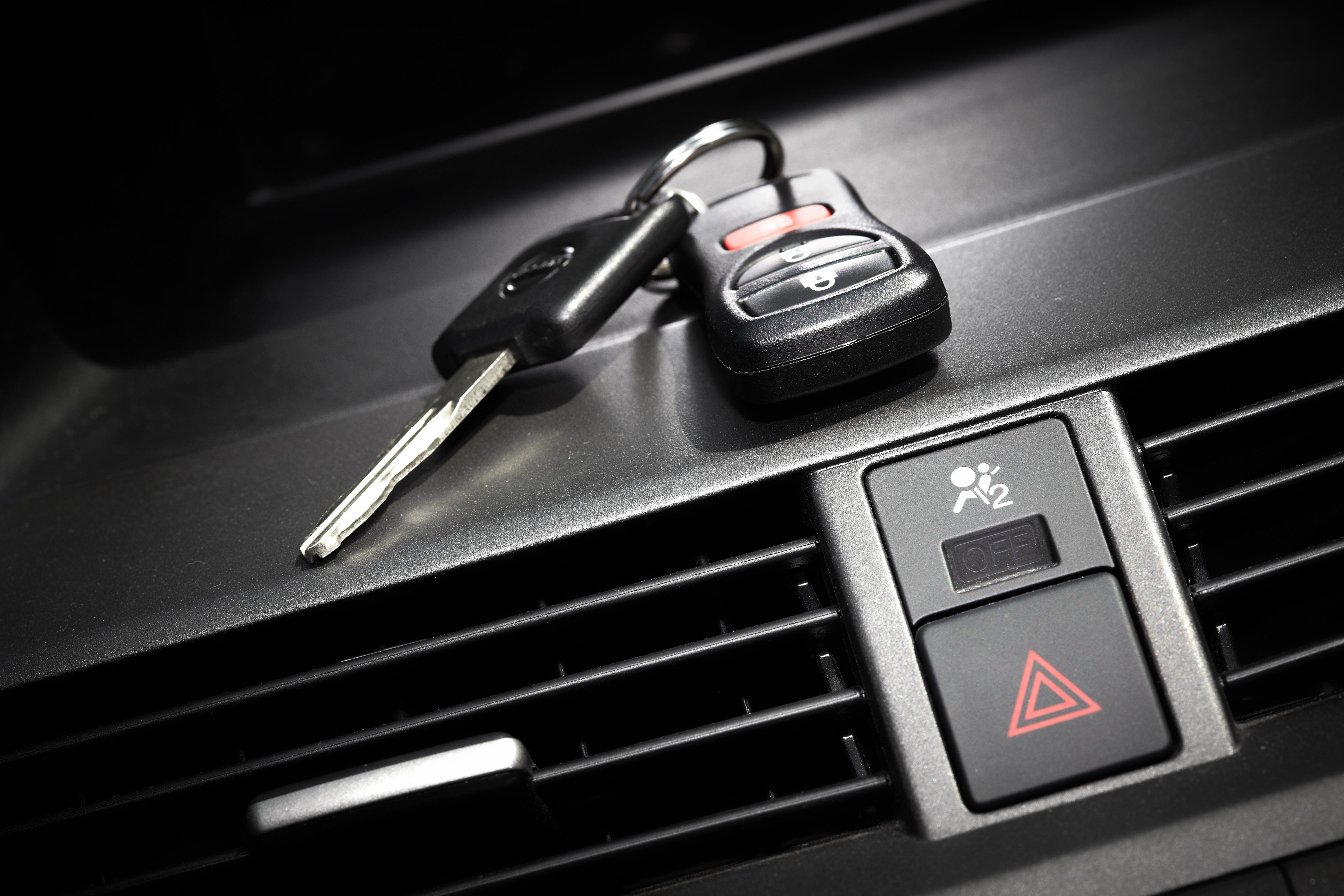 Car Keys on Dashboard by Vents