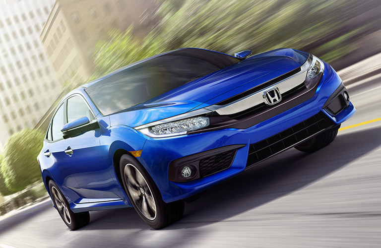 2018 Honda Civic driving in the city