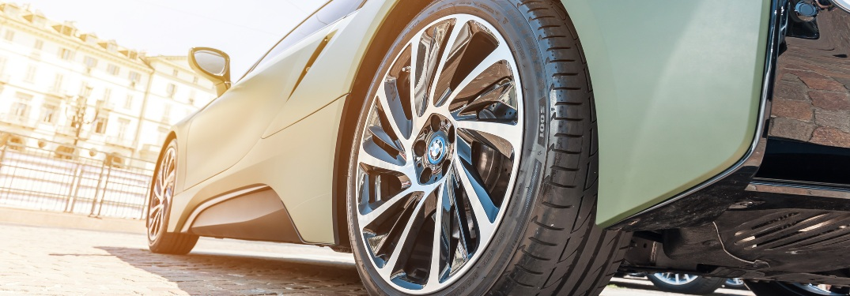 Close up of vehicle wheel
