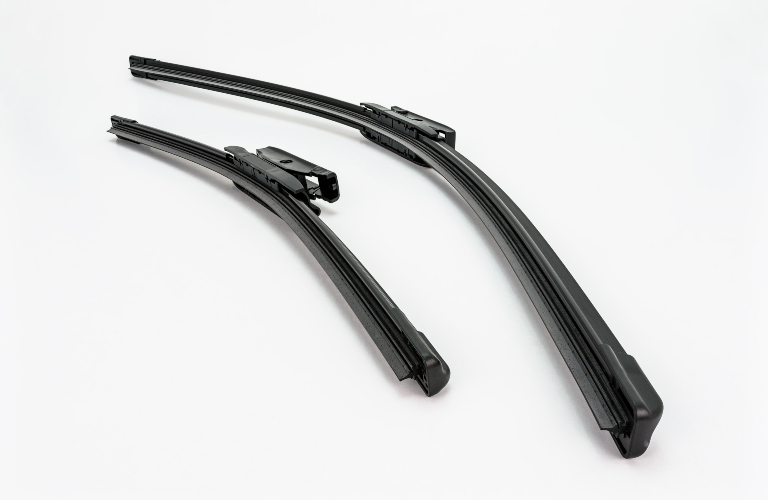 Windshield wipers on white background