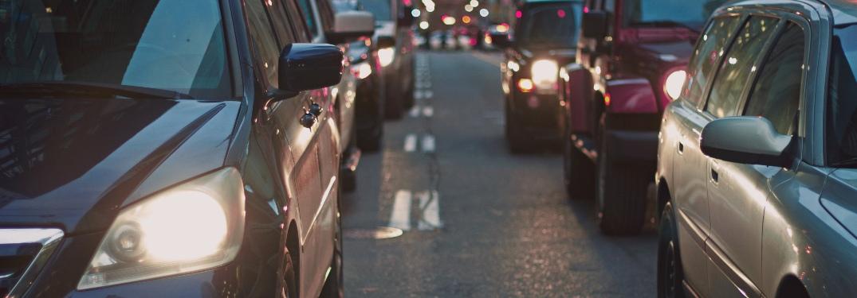 Many vehicles on traffic