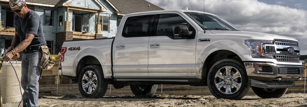 2020 Ford F-150 at a work site