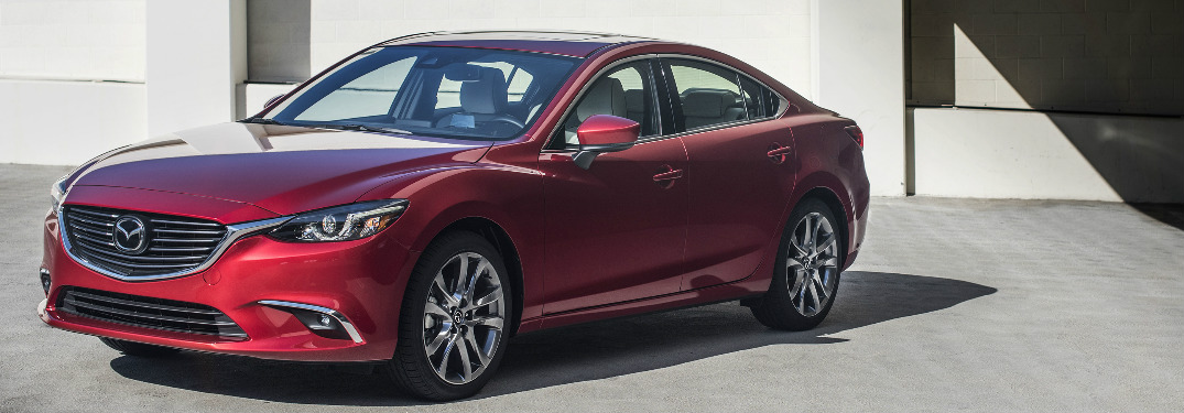 2017.5 Mazda6 in red side view