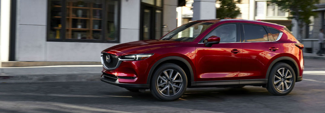 2017 Mazda CX-5 Exterior View in Red of Side