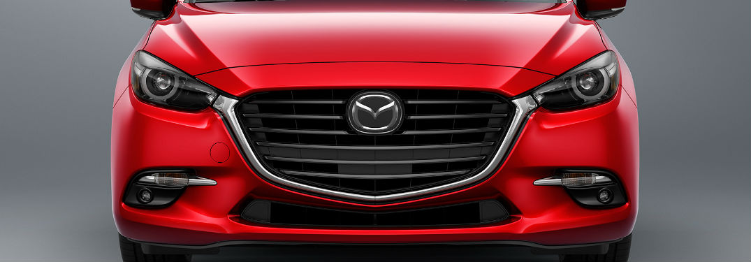 2018 Mazda3 Front End View in Red