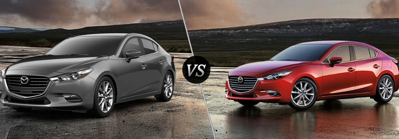 2018 Mazda3 in Gray vs 2017 Mazda3 in Red