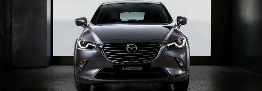 Exterior View of the Front End of the 2018 Mazda CX-3