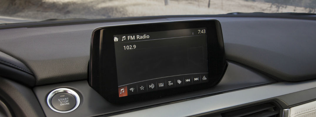 MAZDA CONNECT Infotainment System Display in Mazda Vehicle