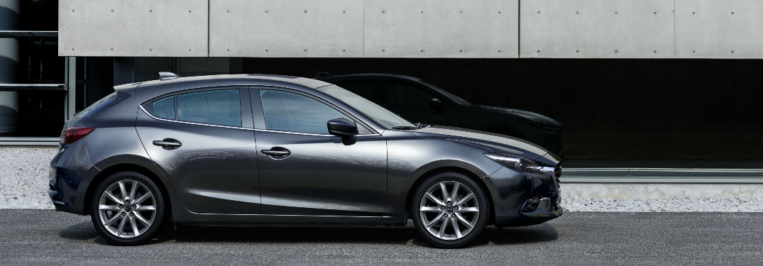 2018 Mazda3 Hatchback in Silver Side View