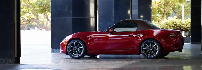 2019 Mazda MX-5 Miata in Red Side View