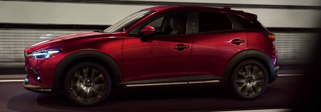 2019 Mazda CX-3 in Red - Side View