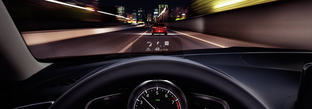 2018 Mazda3 with a heads up display