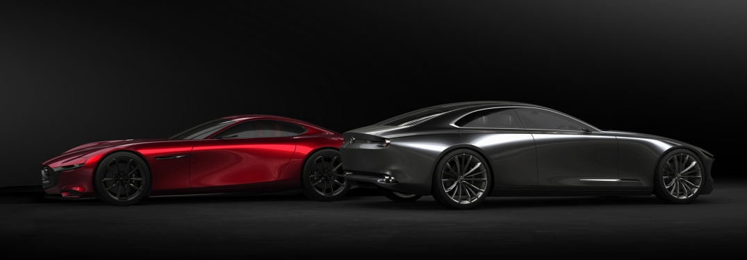 Mazda VISION COUPE red and gray side views