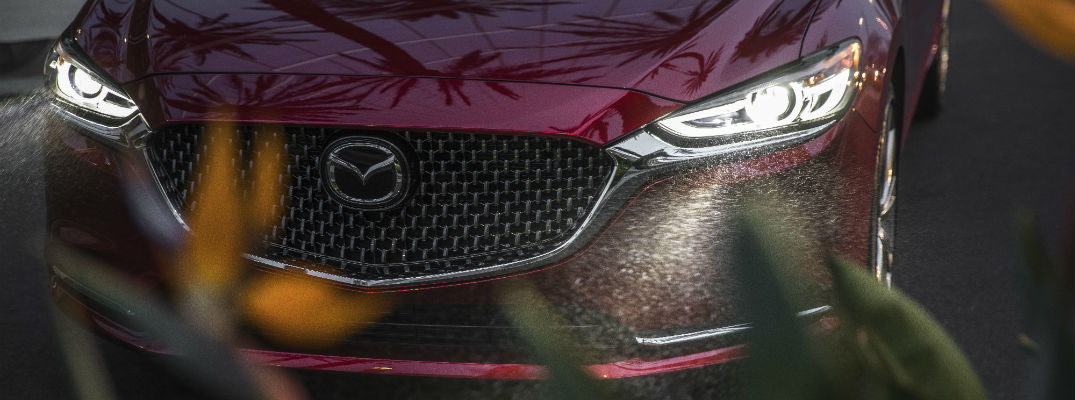 A photo of the headlights being used by the 2018 Mazda6.