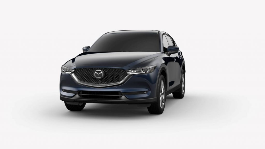 Deep Crystal Blue Mica 2019 Mazda CX-5 on White Background